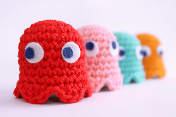 Amigurumi Pacman : Spicy Giveaway! Favoritest Stuffs and Things 10.21.11 ...